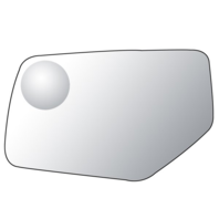 Left Driver Mirror Glass Lens for 15-19 Yukon, Tahoe, Suburban, Escalade