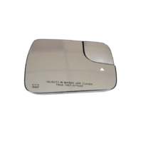 Right Passenger non Tow Heated Blind Spot Warning Mirror Glass w/Rear Holder  OE