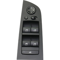 3-SERIES 06-10 POWER WINDOW SWITCH, Front, LH, Black, with Power Folding Mirrors
