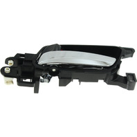 ACCORD 13-17 FRONT INTERIOR DOOR HANDLE LH, Assy, Chrome Lever/Black Housing, Coupe/Sedan, (=REAR)