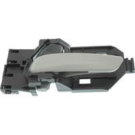 FIT 15-17 FRONT INTERIOR DOOR HANDLE LH, Textured Gray Lever/Black Knob, (=REAR)