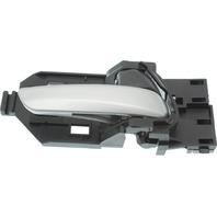FIT 15-17 FRONT INTERIOR DOOR HANDLE RH, Smooth Silver Lever/Black Knob, (=REAR)