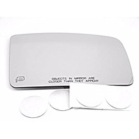 VAM Fits 03-06 LINC Navigator, Fd Expedition, Heated Right Passenger Side Convex Mirror Glass Lens W/o Backing Plate, Comes with Adhesive, USA
