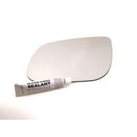Fits 15-19 Kia Sedona Left Driver Mirror Glass Lens w/ Silicone Adhesive