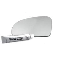 Fits MB SL, SLK, SLC, Left Driver Mirror Glass Lens w/Silicone
