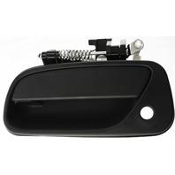 T100 93-98 FRONT EXTERIOR DOOR HANDLE LH, Plastic, Textured Black, With Keyhole