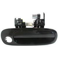 COROLLA/PRIZM 98-02 EXTERIOR FRONT DOOR HANDLE RH, Smooth Black, w/ Keyhole