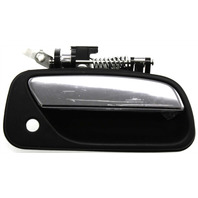 T100 93-98 EXTERIOR FRONT DOOR HANDLE RH, Textured Black, With Keyhole And Chrome Lever