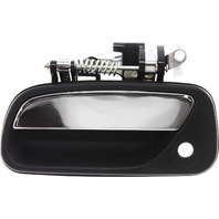 T100 93-98 EXTERIOR FRONT DOOR HANDLE LH, Textured Black, With Keyhole And Chrome Lever