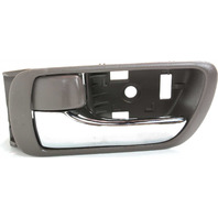 CAMRY 02-06 INTERIOR FRONT DOOR HANDLE LH, Brown Bezel, With Chrome Lever, Japan/USA Built, Vehicle, (=REAR)
