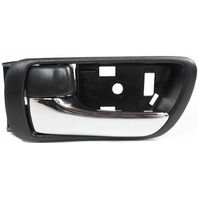CAMRY 02-06 INTERIOR FRONT DOOR HANDLE LH, Textured Black, With Chrome Lever, Japan/USA Built, Vehicle, (=REAR)