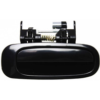 COROLLA/PRIZM 98-02 EXTERIOR REAR DOOR HANDLE RH, Smooth Black, w/o Keyhole