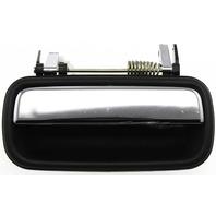 TACOMA 01-04 EXTERIOR REAR DOOR HANDLE RH, Textured Black+Chrome Lever, w/o Keyhole