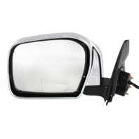 TACOMA 01-04 MIRROR LH, Power, Manual Folding, Non-Heated, (Pre Runner, 2WD)/(Base/DLX, 4WD), Chrome