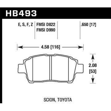 Hawk Performance HB493E.650 Scheibenbremse Pad