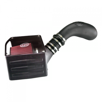 S&B Filter 75-5036 Cold Air Intake For 99-06 GMC Sierra 4.8L, 5.3L, 6.0L Oiled Cotton Cleanable Red
