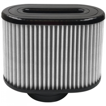 S&B Filter KF-1049D Air Filter For Intake Kits 75-5016,75-5023 Dry Extendable White