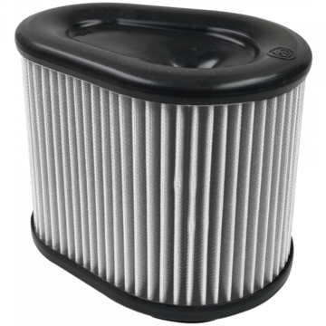 S&B Filter KF-1061D Air Filter For Intake Kits 75-5074 Dry Extendable White