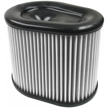 S&B Filter KF-1062D Air Filter For Intake Kits 75-5075 Dry Extendable White
