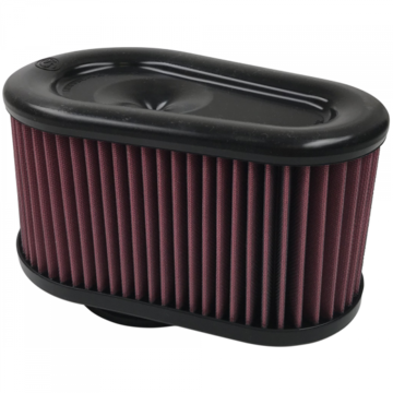 S&B Filter KF-1064 Air Filter For Intake Kits 75-5086,75-5088,75-5089 Oiled Cotton Cleanable Red