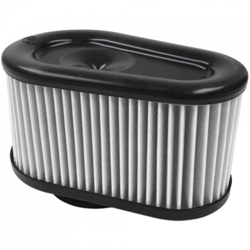 S&B Filter KF-1064D Air Filter For Intake Kits 75-5086,75-5088,75-5089 Dry Extendable White