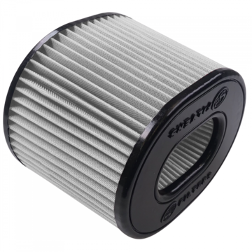S&B Filter KF-1068D Air Filter For Intake Kits 75-5021 Dry Extendable White