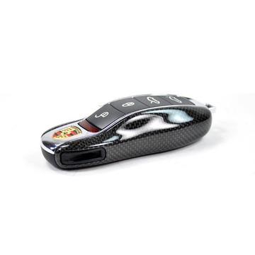 AutoTecknic Replacement Carbon Fiber Key Fob Cover - Porsche