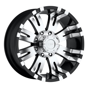 Pro Comp Wheels 8142-29589 Blockade Series 8142 Gloss Black/Machined Finish