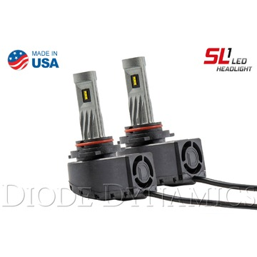 Low Beam LED Headlight Pair w AntiFlicker Modules for 2006-2010 Jeep Commander