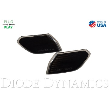 Diode Dynamics Sidemarkers Smoked Set For Jeep JL