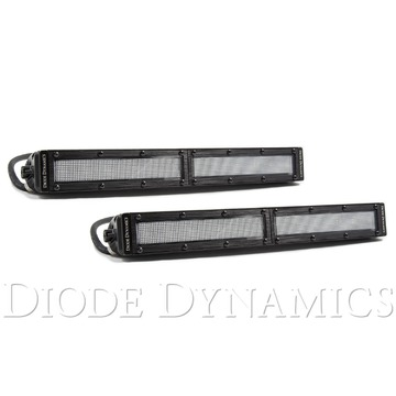 12 Inch LED Light Bar Single Row Straight Clear Flood Pair Stage Series
