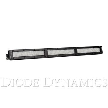 18 Inch LED Light Bar Single Row Straight Clear Flood Each Stage Series