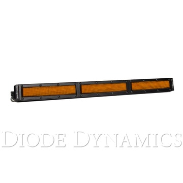 18 Inch LED Light Bar Single Row Straight Amber Flood Each Stage Series