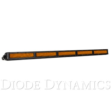30 Inch LED Light Bar Single Row Straight Amber Flood Each Stage Series
