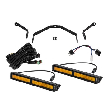 Diode Dynamics 12 Inch LED Driving Light Kit Amber Wide For Tundra