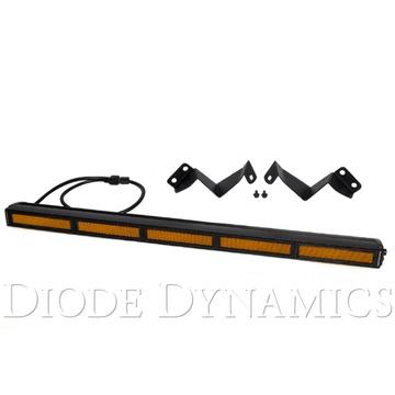 Diode Dynamics 30 Inch LED Light Bar Kit Stealth Amber Flood 16-19 Tacoma