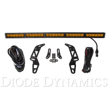 Diode Dynamics SS30 Bumper LED Kit Amber Driving Single For 2018 Jeep