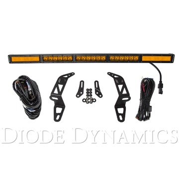 Diode Dynamics SS30 Bumper LED Kit Amber Combo Single For 2018 Jeep