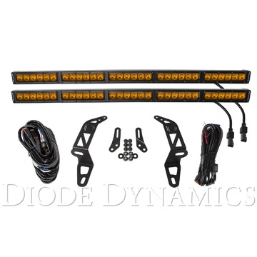 Diode Dynamics SS30 Bumper LED Kit Amber Driving Dual For 2018 Jeep