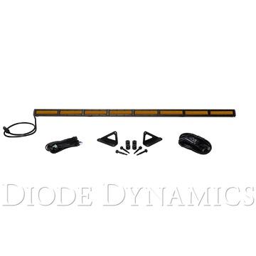 Diode Dynamics SS50 Hood LED Kit Amber Flood For 2018 Jeep
