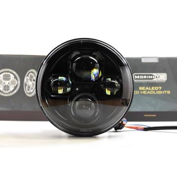 "Morimoto LF271 Headlights Sealed Beam Sealed7 2.0 7"" Round Black"