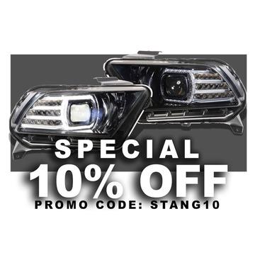 Morimoto LF440 XB LED Head Lights Ford Mustang 10-12 Set / Black