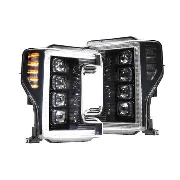 Morimoto LF503 XB LED Head Lights Ford Super Duty 17-19 Set / Black