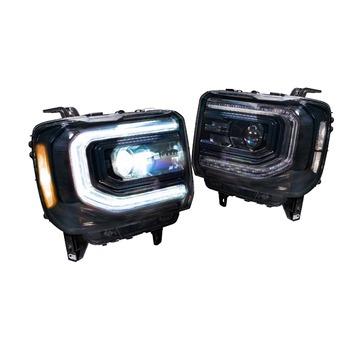 Morimoto LF544 XB LED Head Lights Chevrolet Silverado 1500 16-18 Set / Black