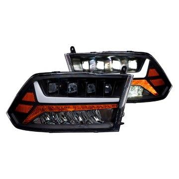 Alpha Owls 7180093 Tri Pro LED Headlight For 2009-2018 Ram 1500 Halogen Mdls