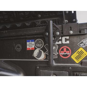 Cali Raised LED Bed Rail Flag Pole Mount Black For Toyota Truck