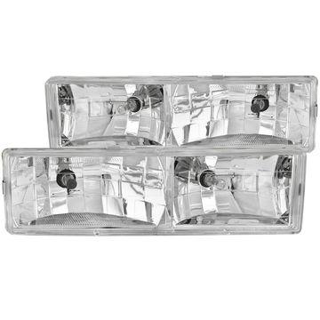 Anzo USA 111004 Kristall Scheinwerfer Set
