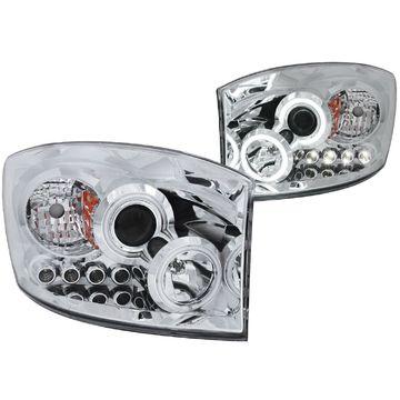 Anzo USA 111103 Projektor Scheinwerfer Set W / Halo für RAM 1500 2500 3500