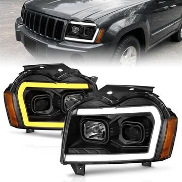 Anzo USA 111543 Projector Headlight Set Fits 05-07 Grand Cherokee (WK)