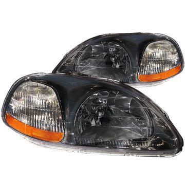 Anzo USA 121248 Crystal Headlight Set Fits 96-98 Civic